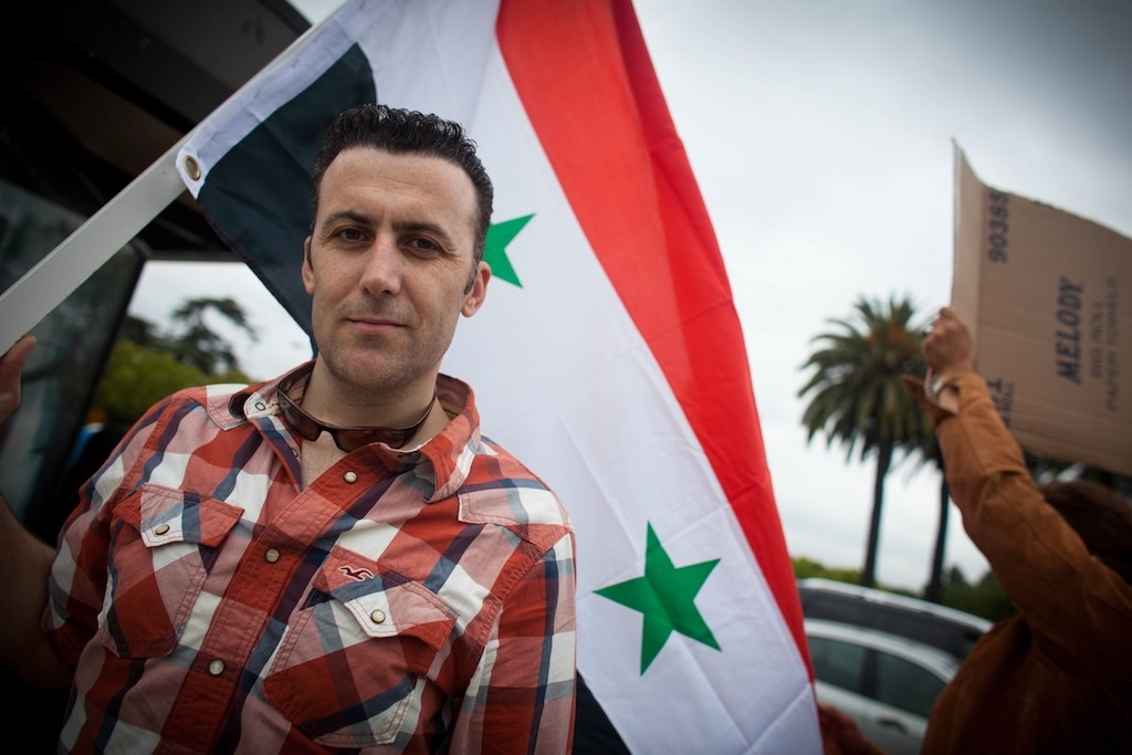 File photo: Nour Douchi started a Facebook group to organize rallies for Syrian Americans around Southern California. It's been a year since violent crackdowns in Syria, and Los Angeles Syrian groups are joining others in asking the U.S. to grant asylum to the growing number of Syrian refugees.
