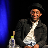 Marcus Miller speaks at the 2014 International Jazz Day Educational Programs at Osaka School of Music on April 30, 2014 in Osaka, Japan.