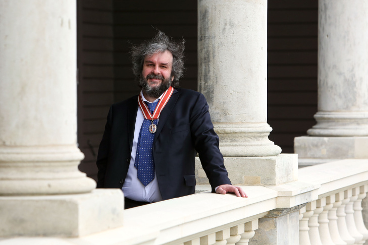 Sir Peter Jackson poses after receiving the Insignia of a Member of the Order of New Zealand, for services to New Zealand, at an Investiture ceremony at Government House on September 17, 2013 in Wellington, New Zealand. Jackson is lending his private jet to the search for missing Malaysian Airlines flight 370.