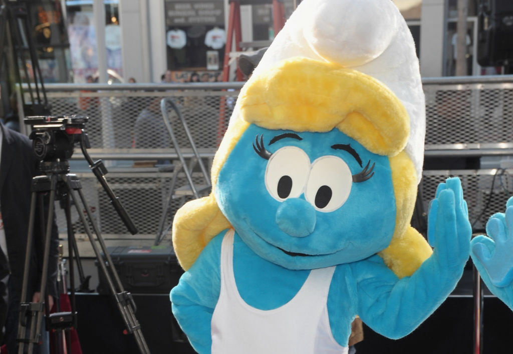 Smurfette attends a hand and footprint ceremony Immortalizing The Smurfs at Grauman's Chinese Theatre on Dec. 13, 2011 in Hollywood.