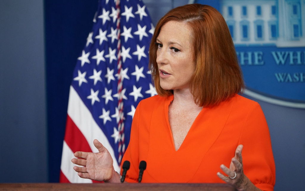 White House press secretary Jen Psaki tells reporters Monday she doesn't expect to see the