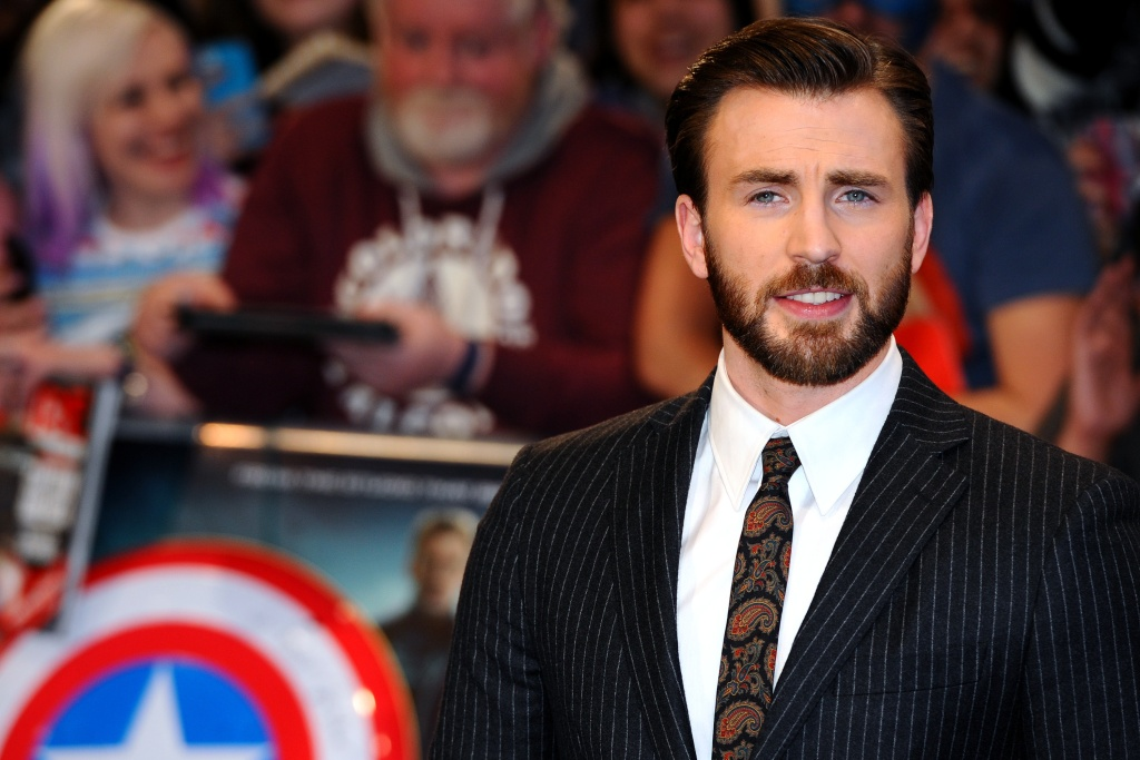 Chris Evans attends the UK Film Premiere of