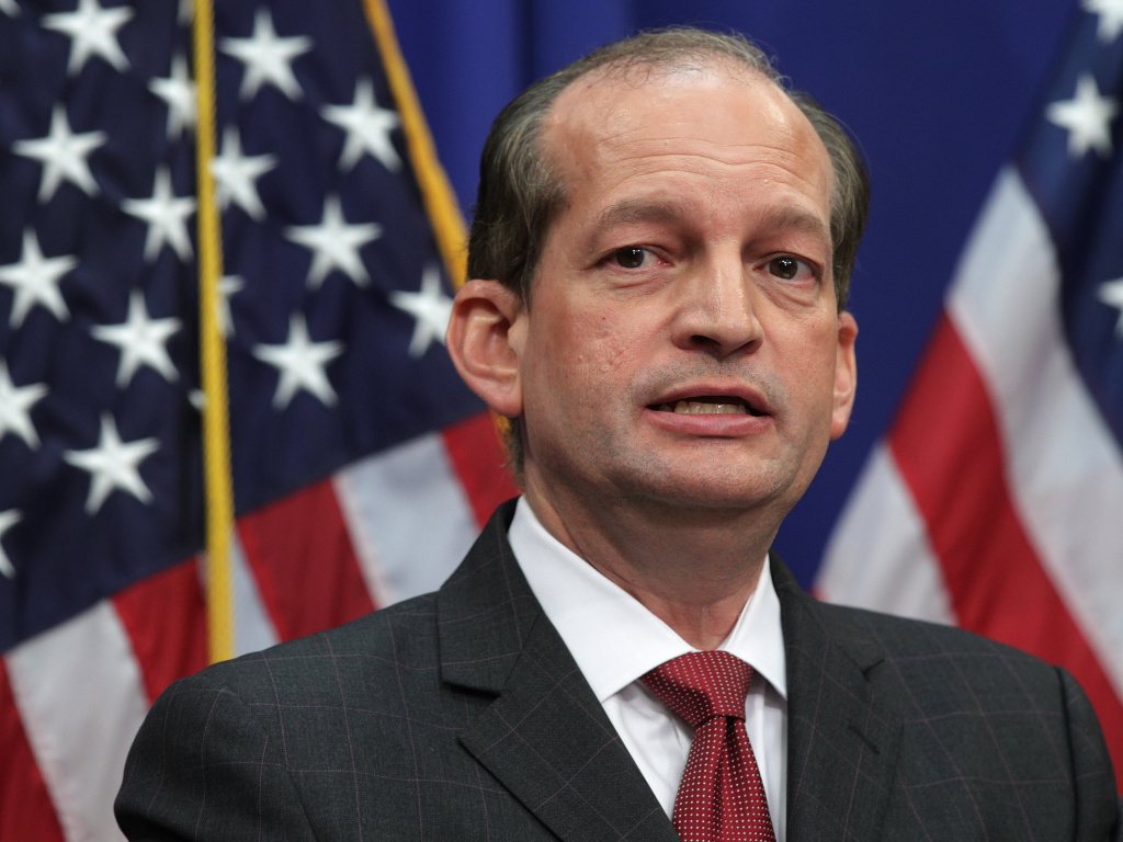 U.S. Secretary of Labor Alex Acosta on Wednesday defended a 2008 plea deal made when he was a U.S. attorney in Florida with Jeffrey Epstein, a wealthy financier accused of yearslong sex trafficking of minors.