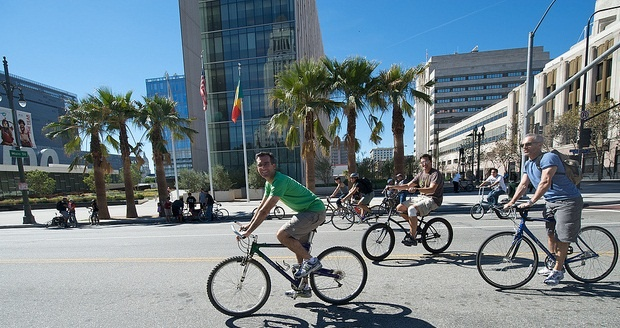 Photo: The inaugural CicLAvia on Oct. 10, 2010