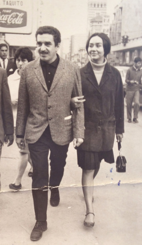 Gabriel García Márquez and his wife Mercedes in Bogota, 1967. Image courtesy of Harry Ransom Center