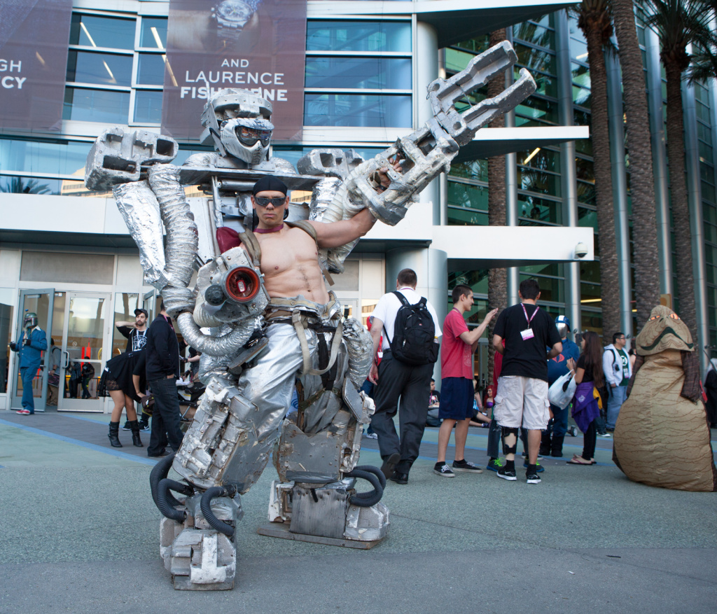 Chris Erkiletian created his giant robot costume for WonderCon 2013.