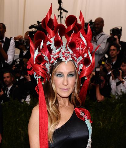 Sarah Jessica Parker arrives at The Metropolitan Museum of Art's Costume Institute benefit gala celebrating