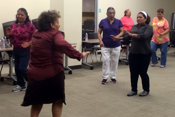 The diabetes class at St. John's Well Child and Family Center in South Los Angeles includes a healthy breakfast, dancing and a discussion.