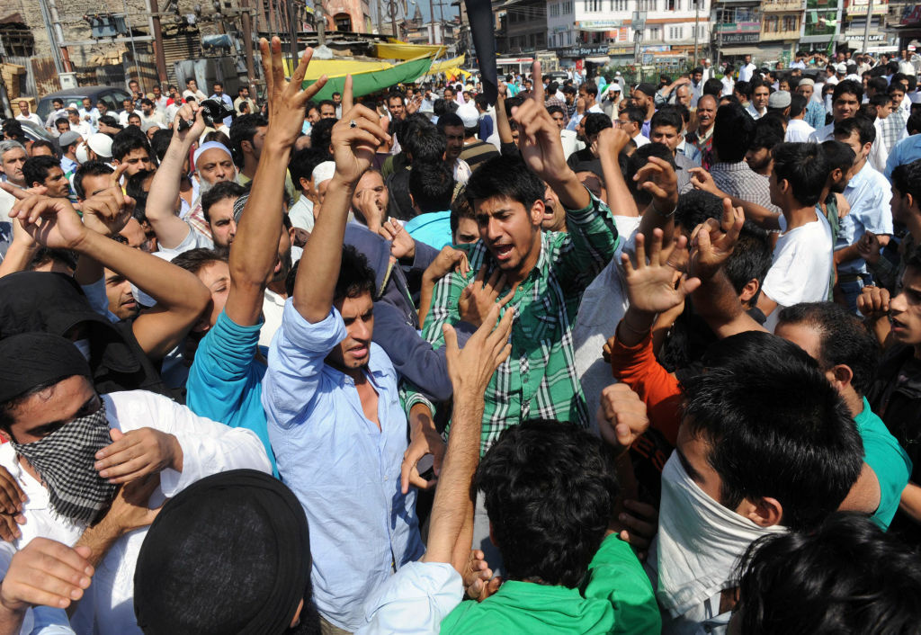 Kashmiri Muslims shout anti-US slogans during a demonstration against the controversial film 'Innocence of Muslims' in Srinagar on September 14, 2012. Video-sharing website YouTube has blocked access in India to an anti-Islam film that surfaced in the United States and has since sparked deadly protests in the Muslim world, Google said on Friday.