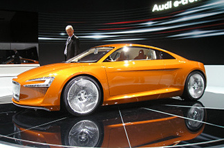 The Electric Audi at the 2009 LA Auto Show.