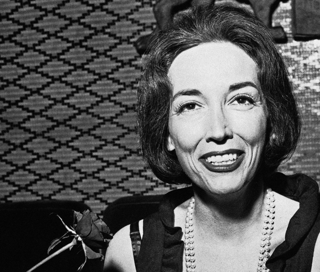 FILE - This Nov. 2, 1964 file photo shows author Helen Gurley Brown. Brown, longtime editor of Cosmopolitan magazine, died Monday, Aug. 13, 2012 at a hospital in New York after a brief hospitalization. She was 90.