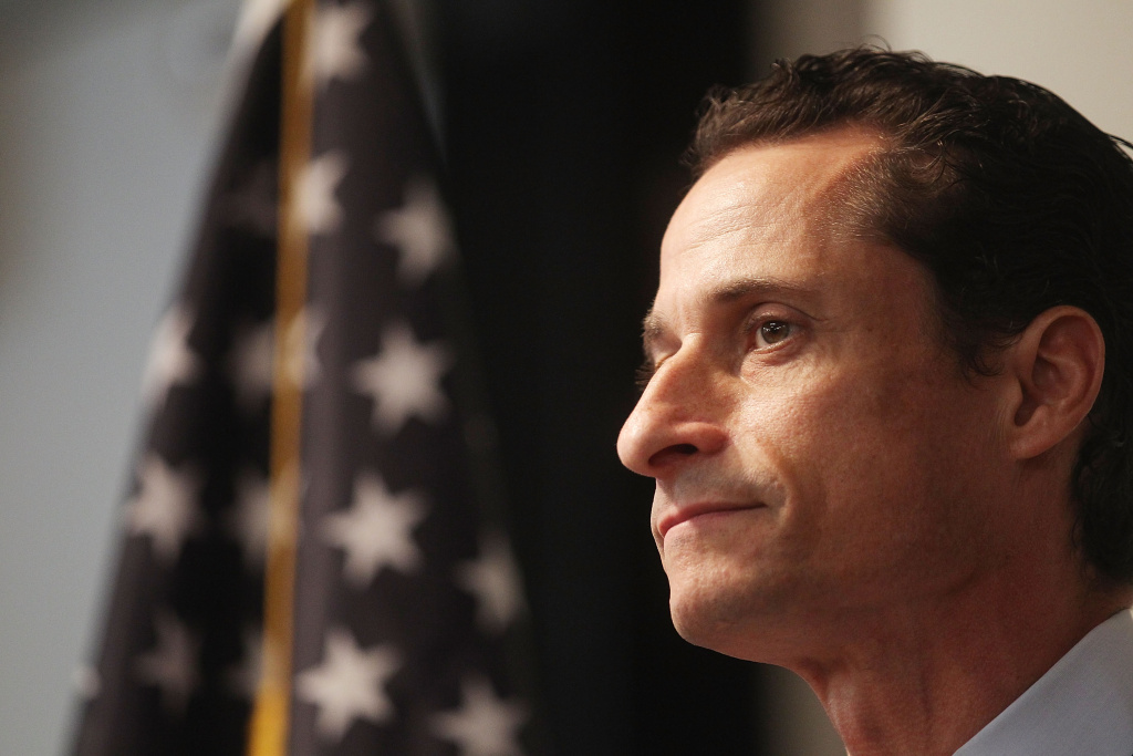 U.S. Rep. Anthony Weiner (D-NY) announces his resignation June 16, 2011 in the Brooklyn borough of New York City. The resignation comes ten days after the congressman admitted to sending lewd photos of himself on Twitter to multiple women.