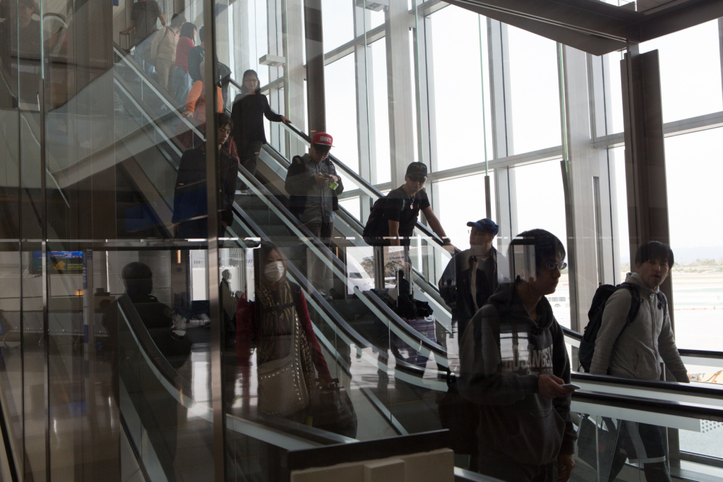 Passengers arrive at the north concourse in the Tom Bradley International Terminal on March 6th, 2013.