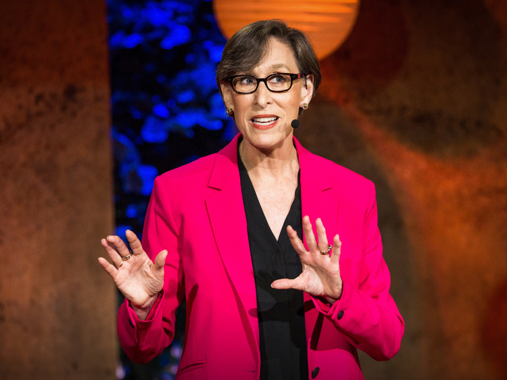 Tina Seelig on the TED stage.