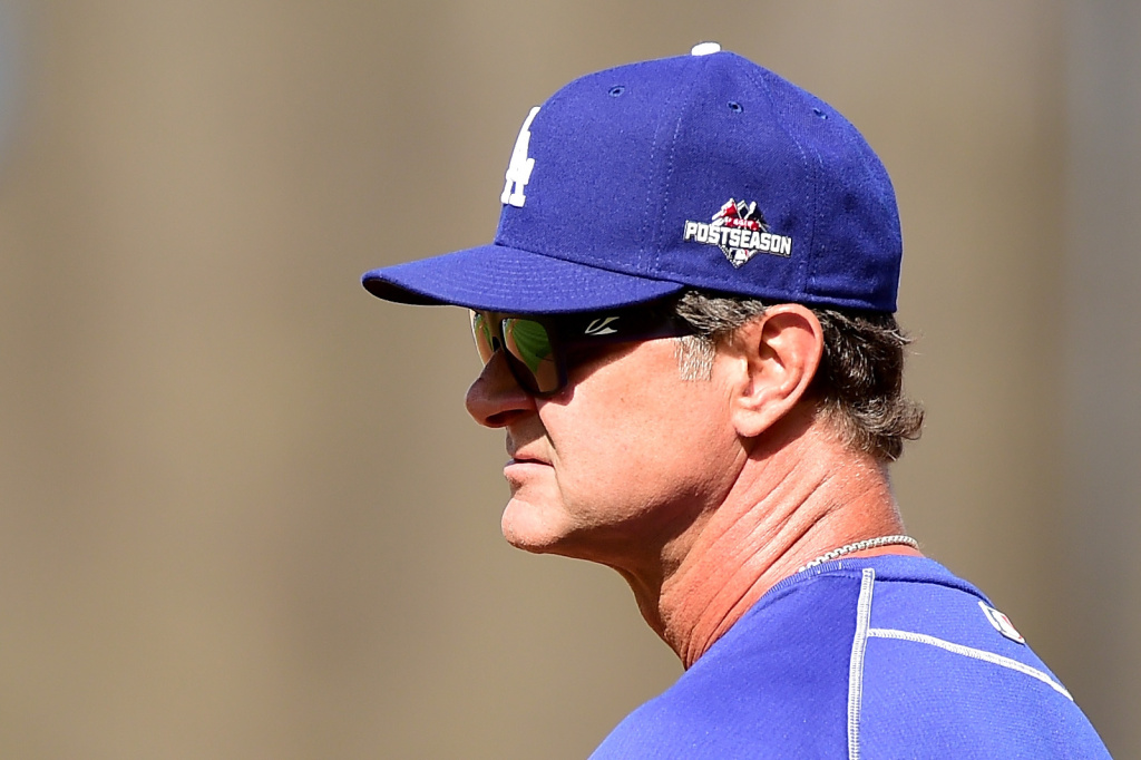 In this file photo, manager Don Mattingly #8 of the Los Angeles Dodgers looks on during batting practice before game five of the National League Division Series against the New York Mets at Dodger Stadium on October 15, 2015 in Los Angeles, California. On Thursday, October 22, 2015, Mattingly said he won't return as the team's manager next year after agreeing with his bosses that he and the team needed a fresh start.