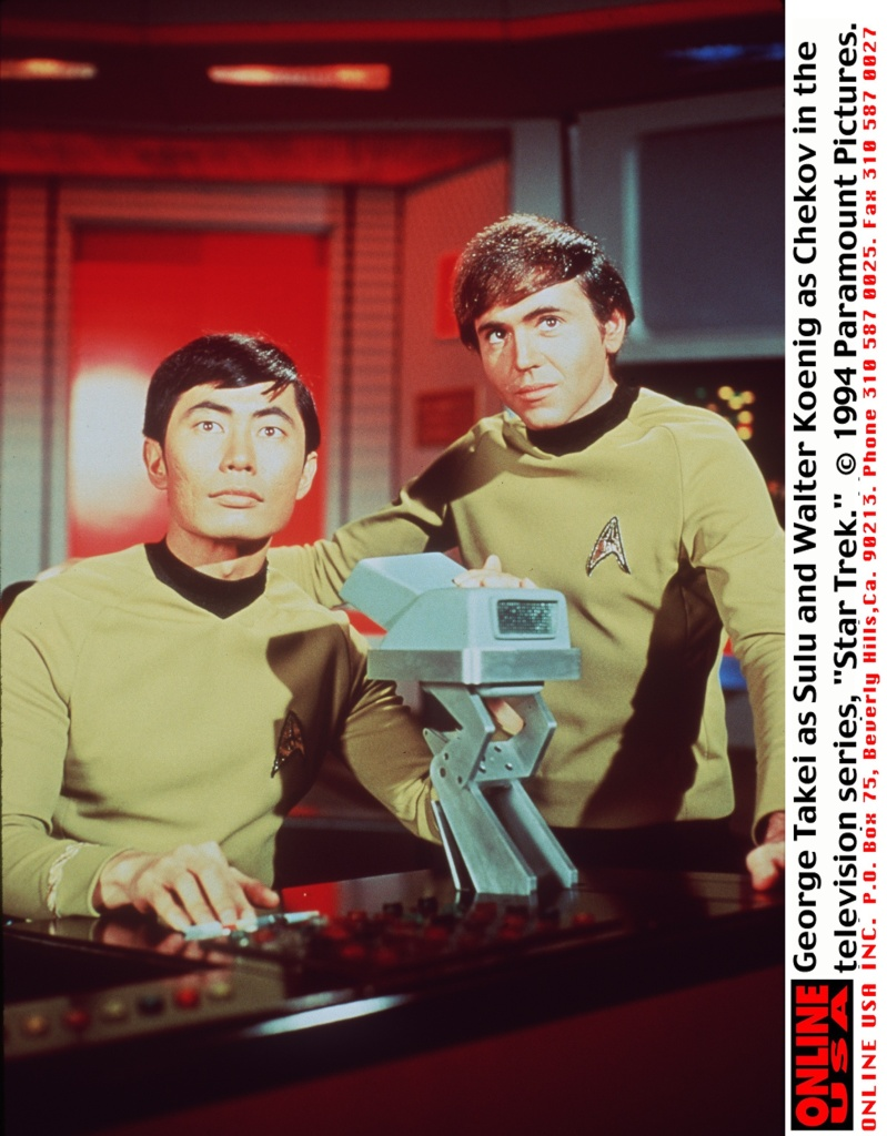George Takei As Sulu (L) And Walter Koenig As Chekov (R) In The Television Series Star Trek
