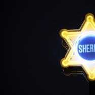 sheriff neon sign badge