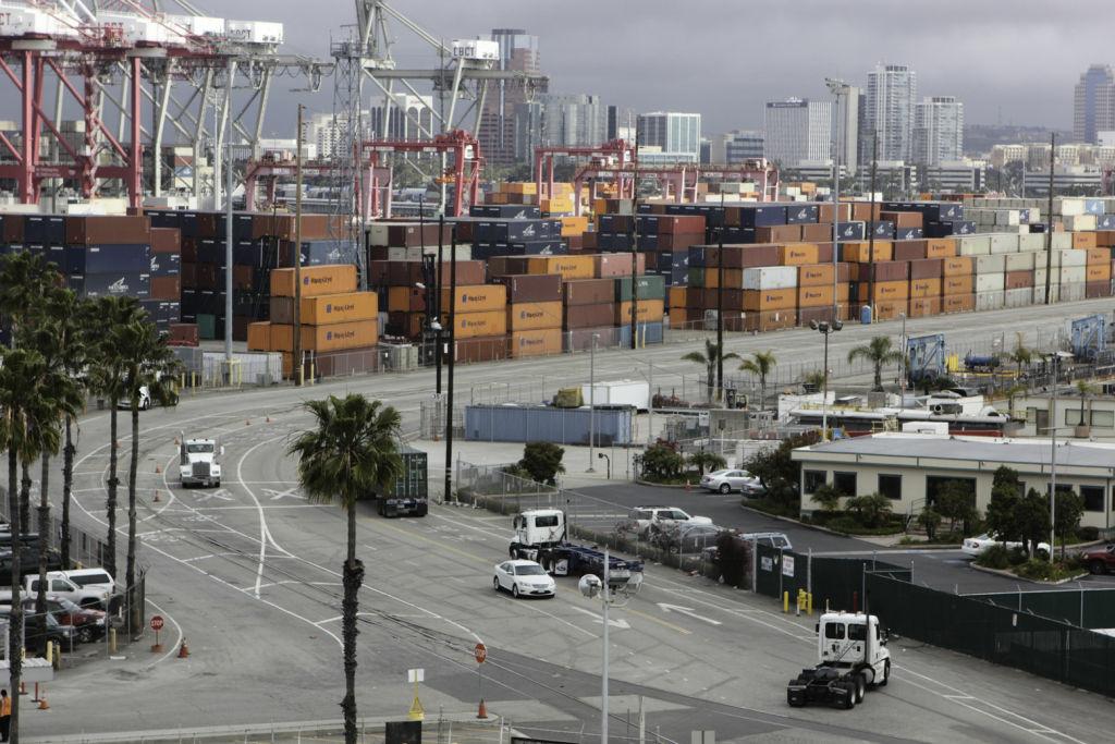 The Port of Long Beach, together with the neighboring Port of Los Angeles, handles roughly 40 percent of imports into the United States.