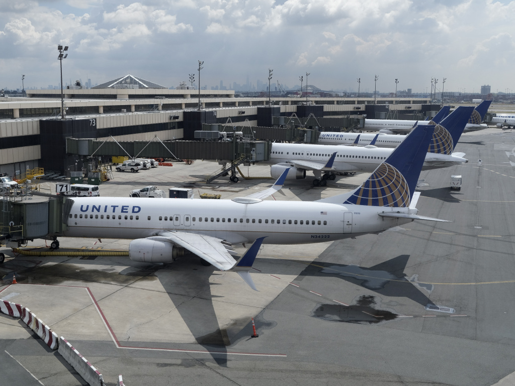 United Airlines planes were parked at gates at Newark Liberty International Airport in Newark, N.J., last month. The airline has announced that it is eliminating many change fees.