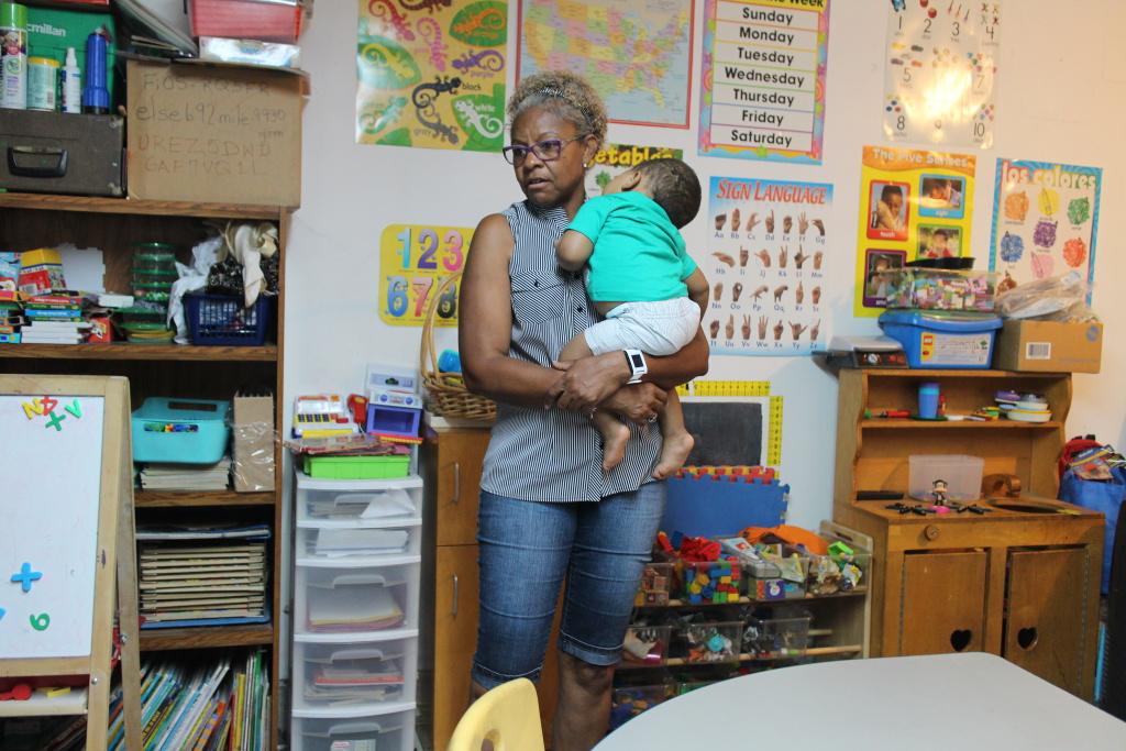 Child care provider Tonia McMillian.