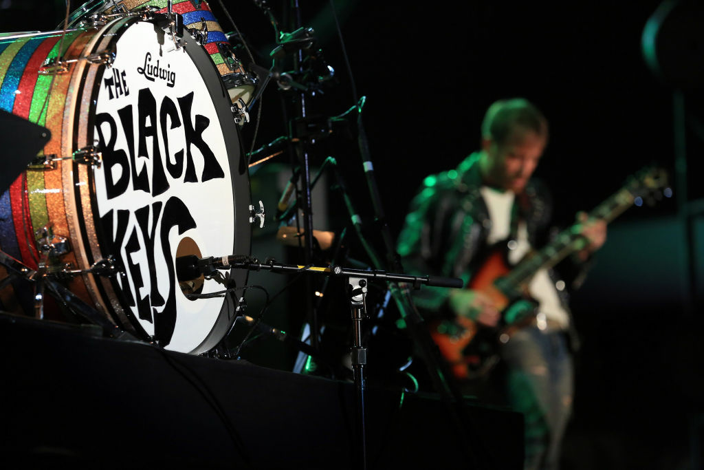 Musician Dan Auerbach of Black Keys performs onstage during day 1 of the 2012 Coachella Valley Music & Arts Festival at the Empire Polo Field on April 13, 2012 in Indio, California.
