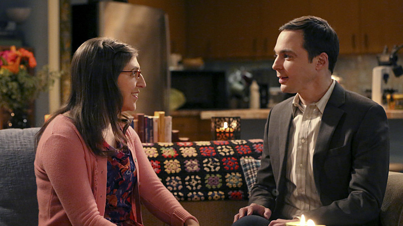 Mayim Bialik and Jim Parsons star as Amy and Sheldon on CBS's <em>The Big Bang Theory</em>.
