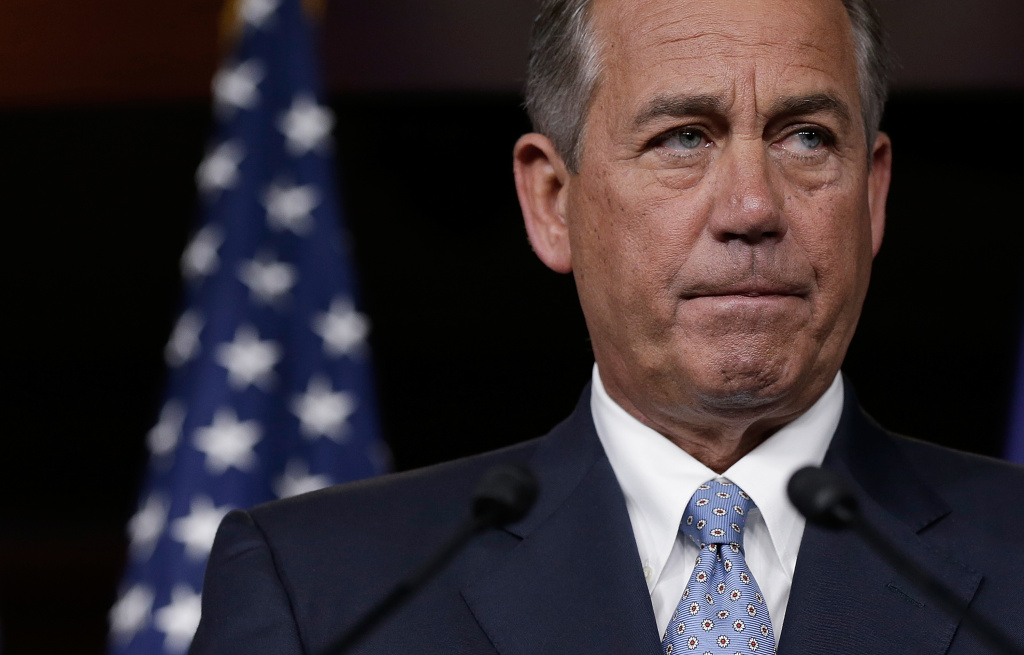 Speaker of the House John Boehner (R-OH) answers questions during a press conference at the U.S. Capitol November 21, 2013 in Washington, DC. During his remarks, Boehner said that Rep. Trey Radel's (R-FL) guilty plea on charges of possession of cocaine were
