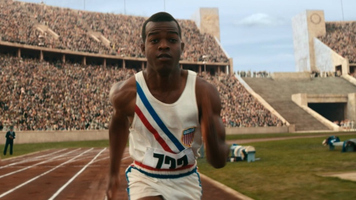 Still image of Stephan James in the new film, Race.