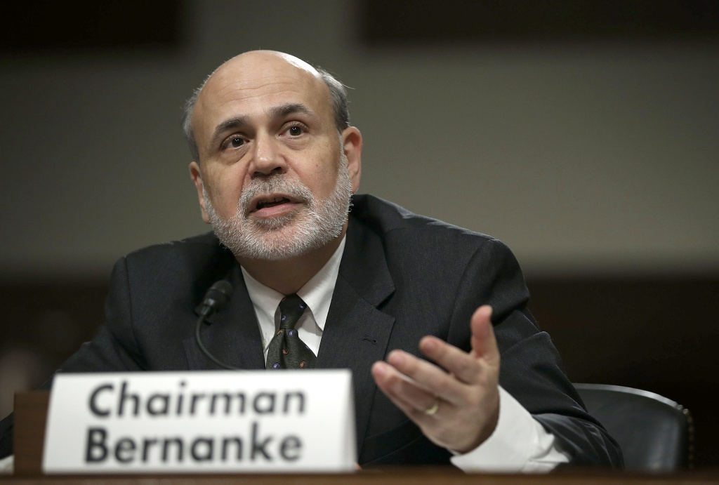 Federal Reserve Board Chairman Ben Bernanke testified during a hearing before the Joint Economic Committee May 22, 2013 on Capitol Hill in Washington, DC.