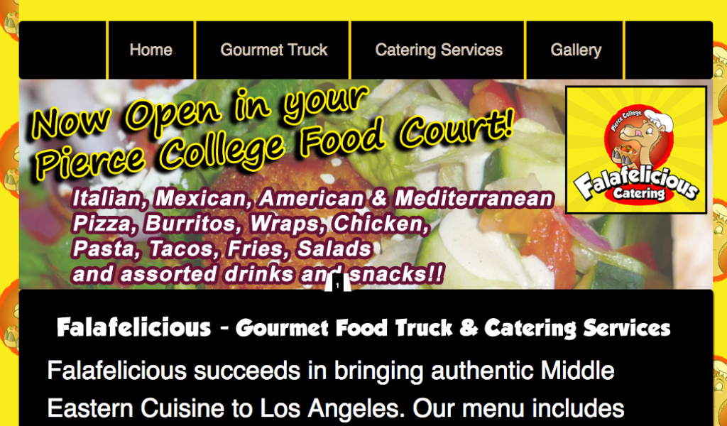 Falafelicious has the contract to provide food services at Pierce College in Los Angeles.