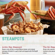 The online menu for Joe's Crab Shack