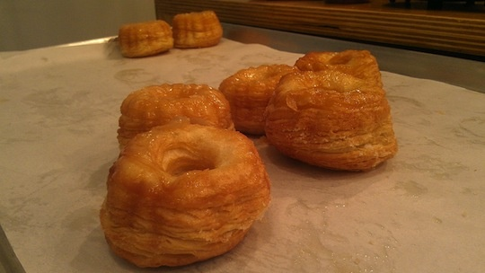 The last available crullants at Semisweet Bakery by 8:10 on Saturday morning.