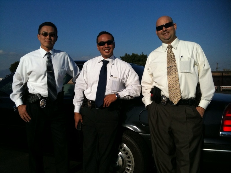 LAPD Homicide Detective Young Mun with officers John Ferreria and George Gutierrez, who are training to be detectives.