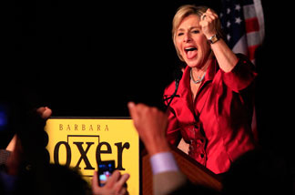 U.S. Sen. Barbara Boxer (D-CA) attends a post election party November 2, 2010 in Hollywood, California. Boxer (D-CA) was declared the winner against Republican senatorial candidate and former head of Hewlett-Packard Carly Fiorina.