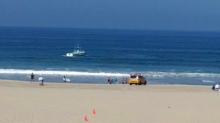 An eyewitness photo of the scene after a shark attack on Saturday, July 5, 2014.