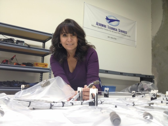 Velma Searcy started Aerowire 2 years ago after 30 years of work as an aerospace engineer