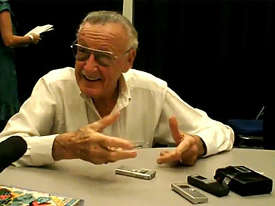 Stan Lee talks to the press about Time Jumper and other projects at Comic Con 2009
