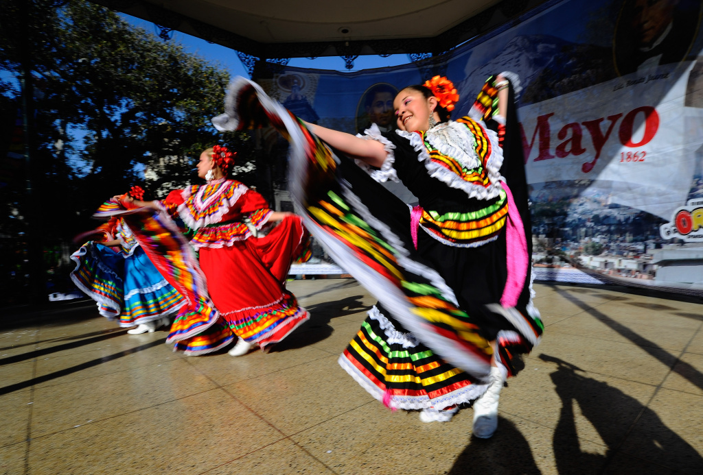 Samantha Romero with Mexica Ballet Folclorico performs during Cinco De Mayo festivities on May 5, 2011 at El Pueblo de Los Angeles Historic Site on Olvera Street in downtown Los Angeles, California. Cinco de Mayo celebrates the 1862 Mexican victory over the French in the Battle of Puebla.