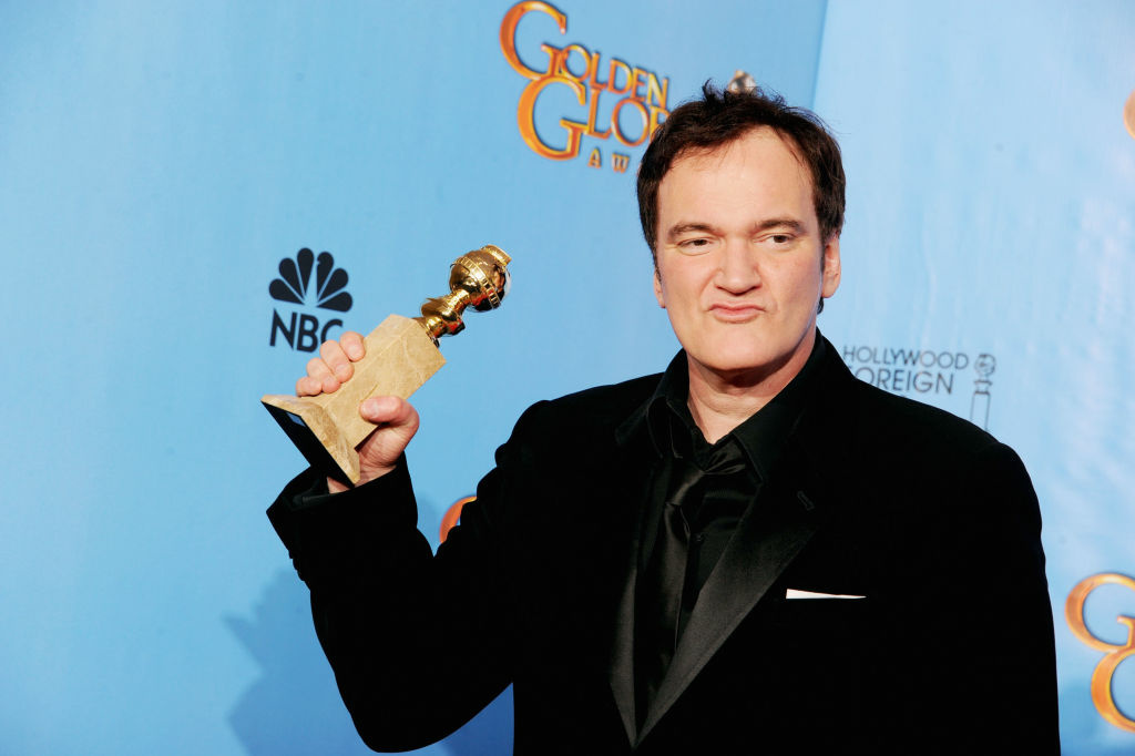 BEVERLY HILLS, CA - JANUARY 13:  Filmmaker Quentin Tarantino, winner of Best Director of a Motion Picture for