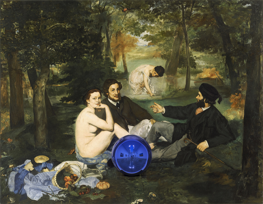 Jeff Koons' Gazing Ball (Manet Luncheon on the Grass), 2014–15.