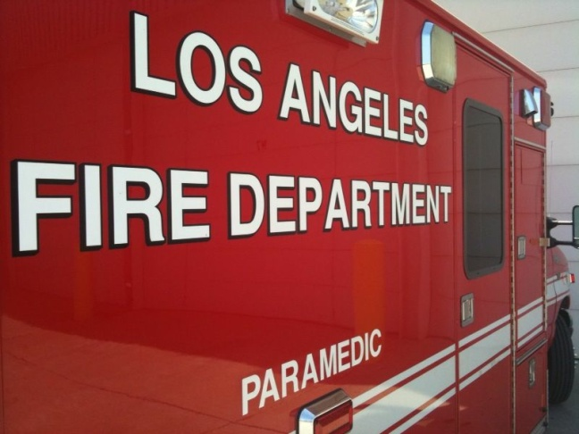 File: A Los Angeles Fire Department vehicle. City Controller Ron Galperin is calling for changes to police and fire department workers' comp protocol and exercise programs after an audit found costs to the city had jumped 35 percent in five years.