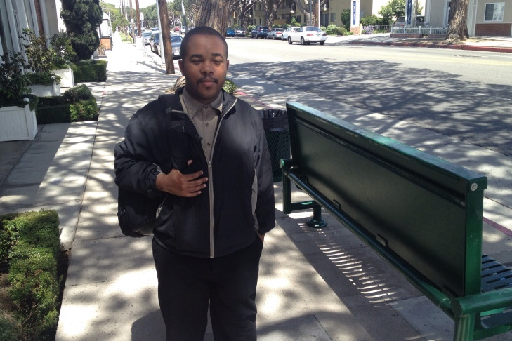 Trevahn Spearman, a tenant for the past year of a Sterling-owned building in West Los Angeles, says he has not experienced any treatment by owners or managers that would make him feel unwelcome.