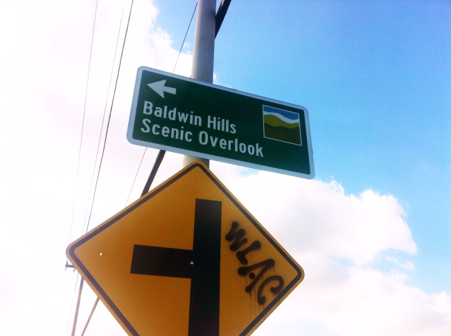baldwin hills scenic overlook sign