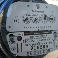 SDG&E electricity meter