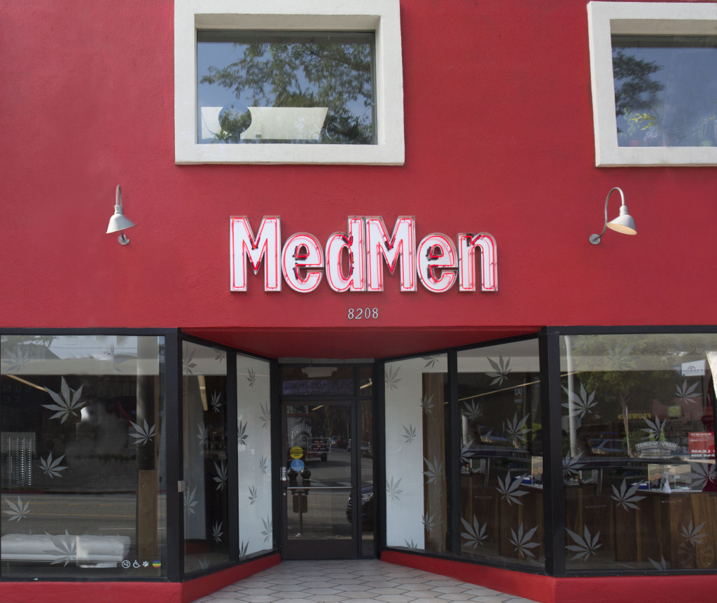 The MedMen West Hollywood storefront