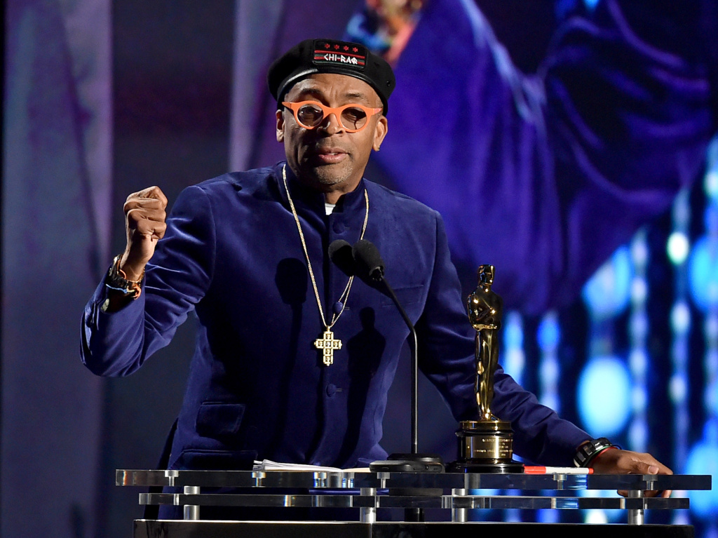 Filmmaker Spike Lee accepts an award onstage during the Academy of Motion Picture Arts and Sciences' 7th annual Governors Awards at The Ray Dolby Ballroom at Hollywood & Highland Center on November 14, 2015 in Hollywood, California. Lee and actress Jada Pinkett Smith each said Monday that they will boycott the Oscars after the second straight year of all-white acting nominees.