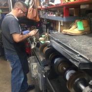 Shoe worker