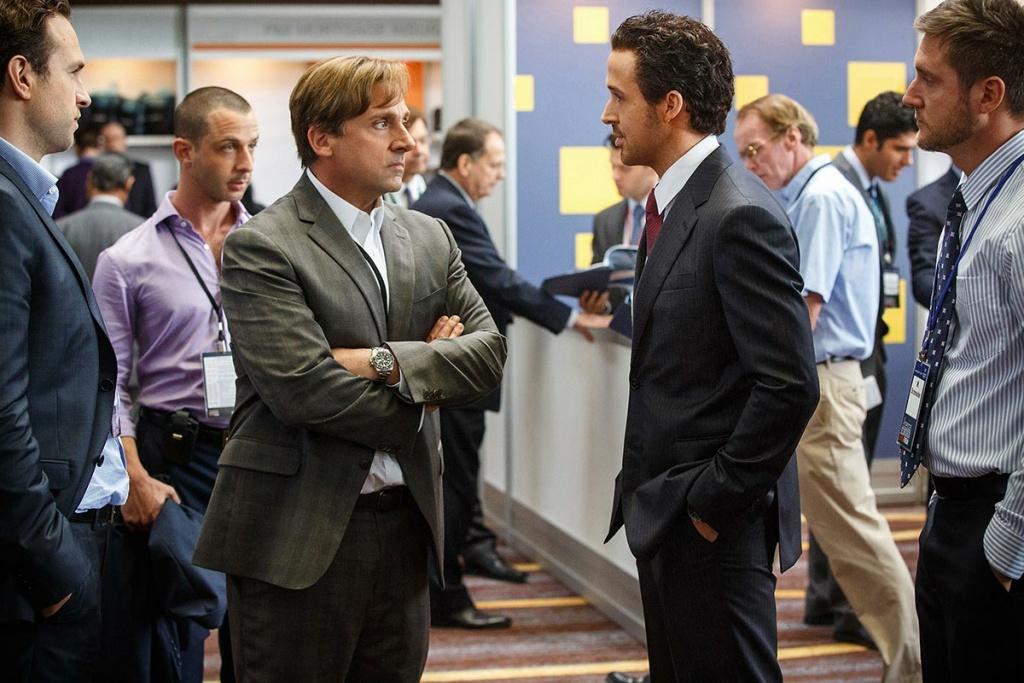 Steve Carrell, left, and Ryan Gosling star in