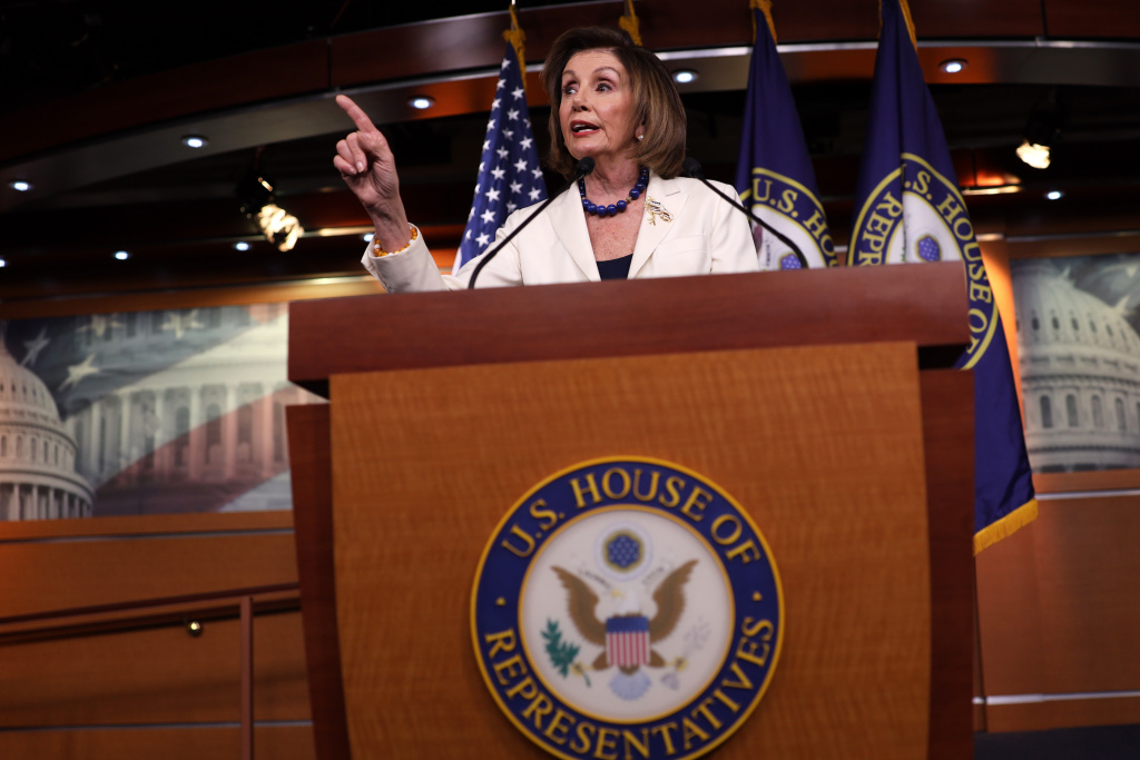 U.S. Speaker of the House Rep. Nancy Pelosi (D-CA) discusses the impeachment inquiry against President Donald Trump during her weekly news conference December 5, 2019 on Capitol Hill in Washington, DC.