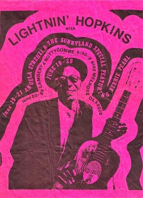 Ash Grove concert flier. Courtesy Ed Pearl.